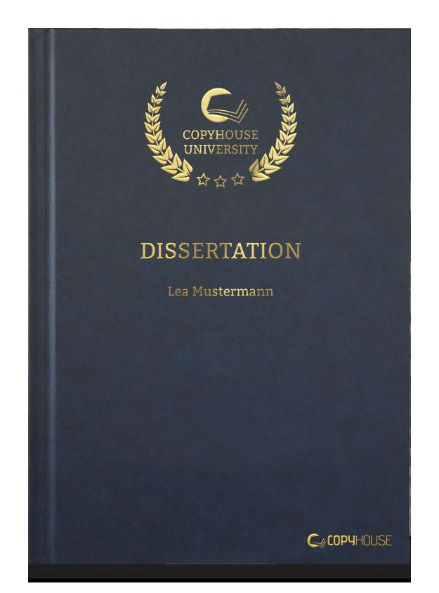 Hardcover-Bindung für Abschlussarbeiten